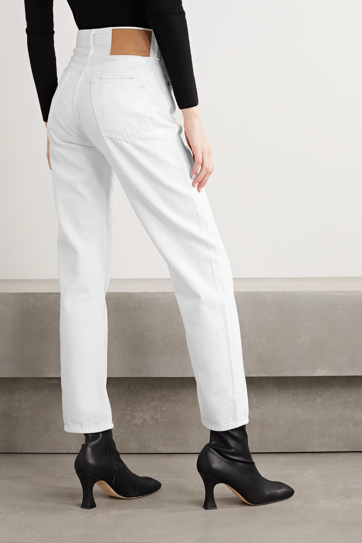rag & bone Maya cropped high-rise straight-leg jeans