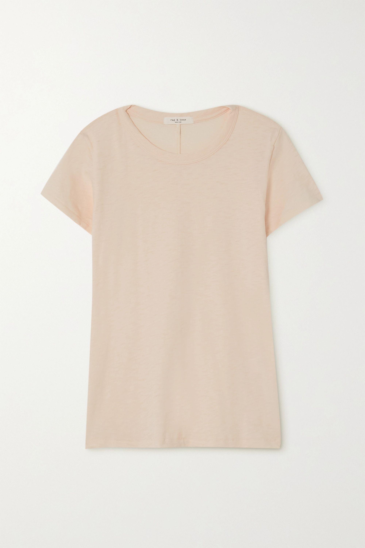 rag & bone T-shirt en jersey de coton Pima flammé The Tee