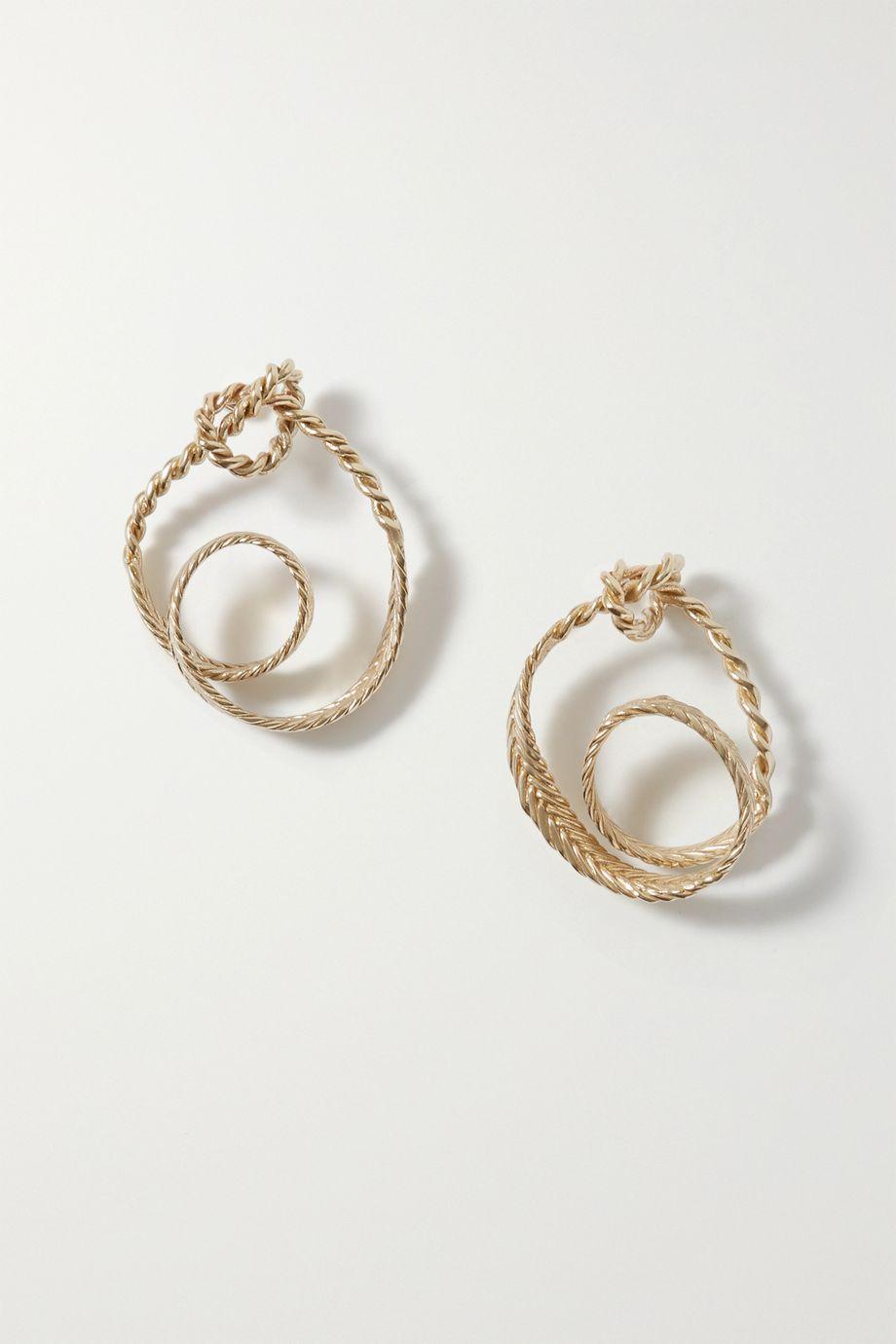 STVDIO Irene gold-tone earrings