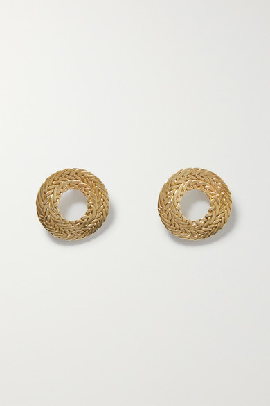 Petite Colette Gold Tone Earrings by Stvdio