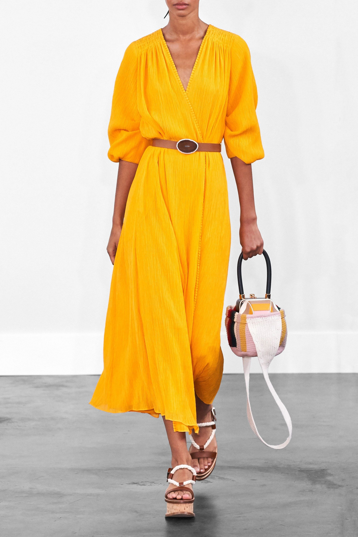 Gabriela Hearst Demeter cotton and silk-blend crepon wrap midi dress