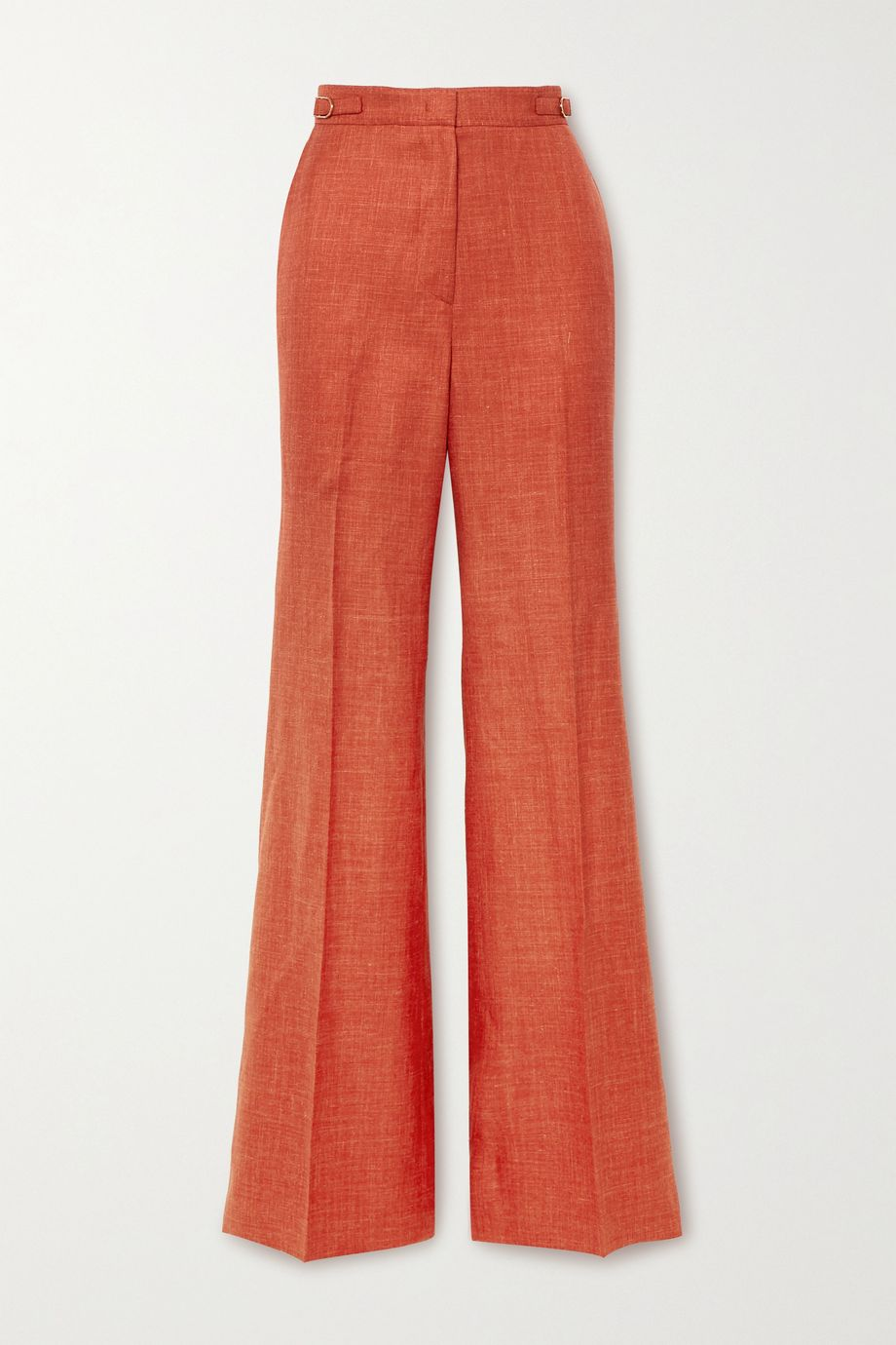 Gabriela Hearst Vesta wool, silk and linen-blend straight-leg pants