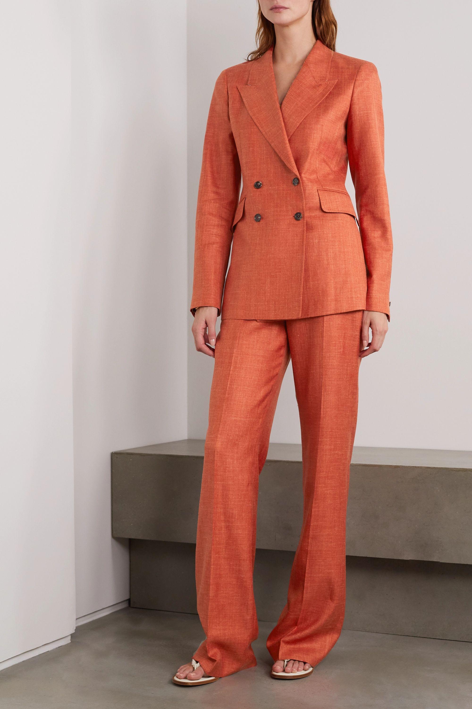 Gabriela Hearst Vesta wool, silk and linen-blend straight-leg pants