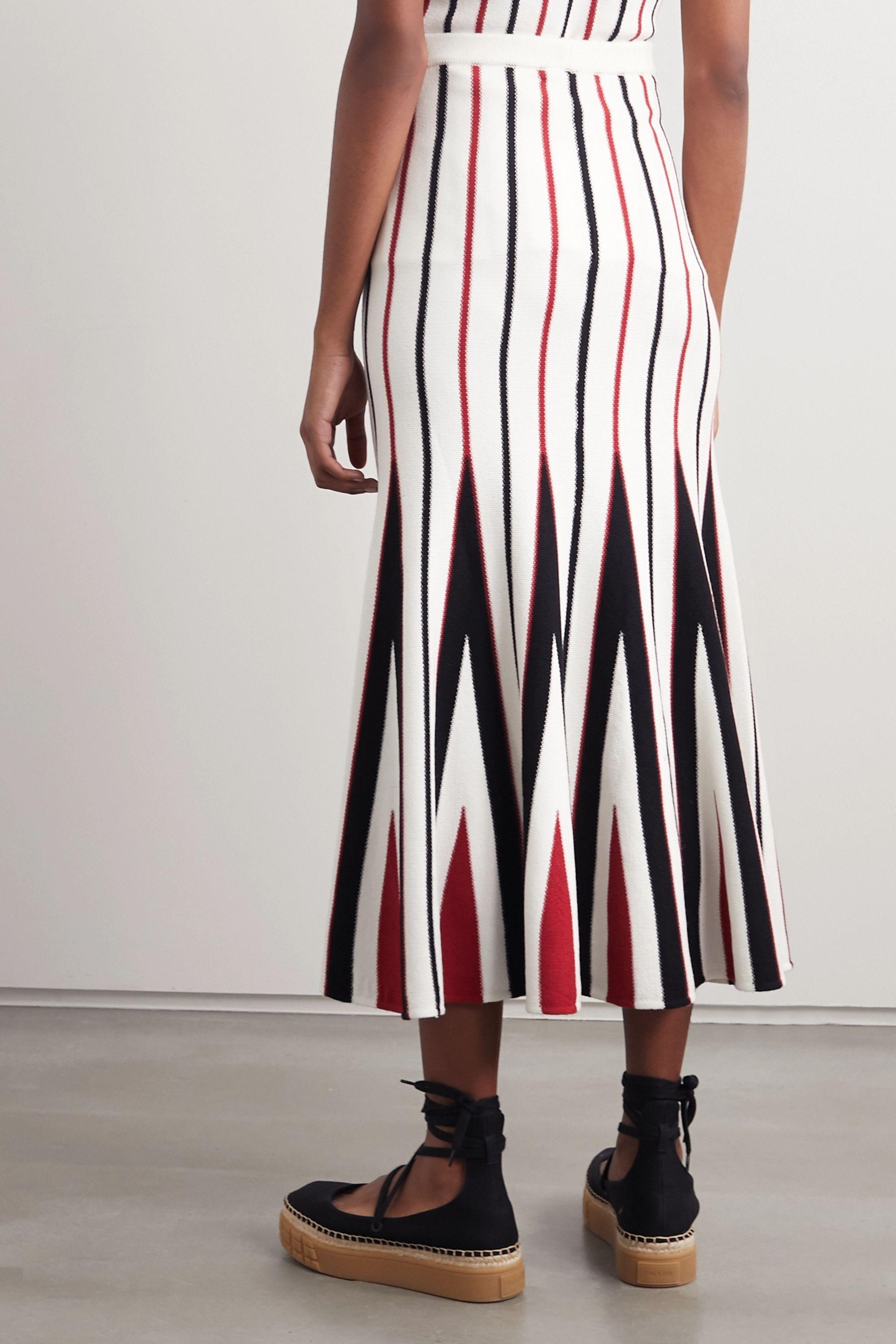 Gabriela Hearst Aegina striped wool midi skirt