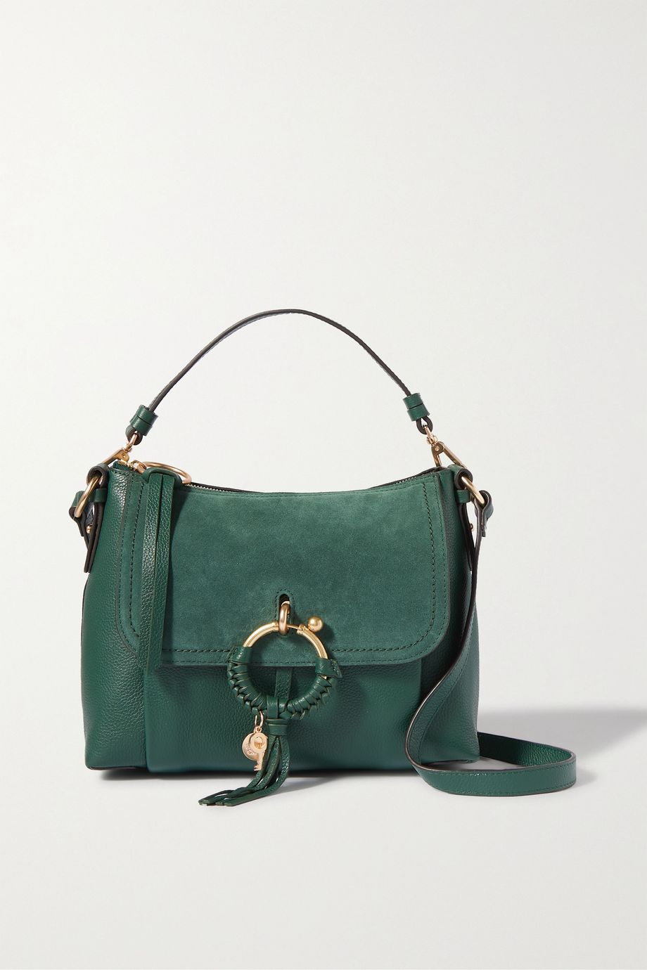 See By Chloé Joan textured-leather and suede shoulder bag