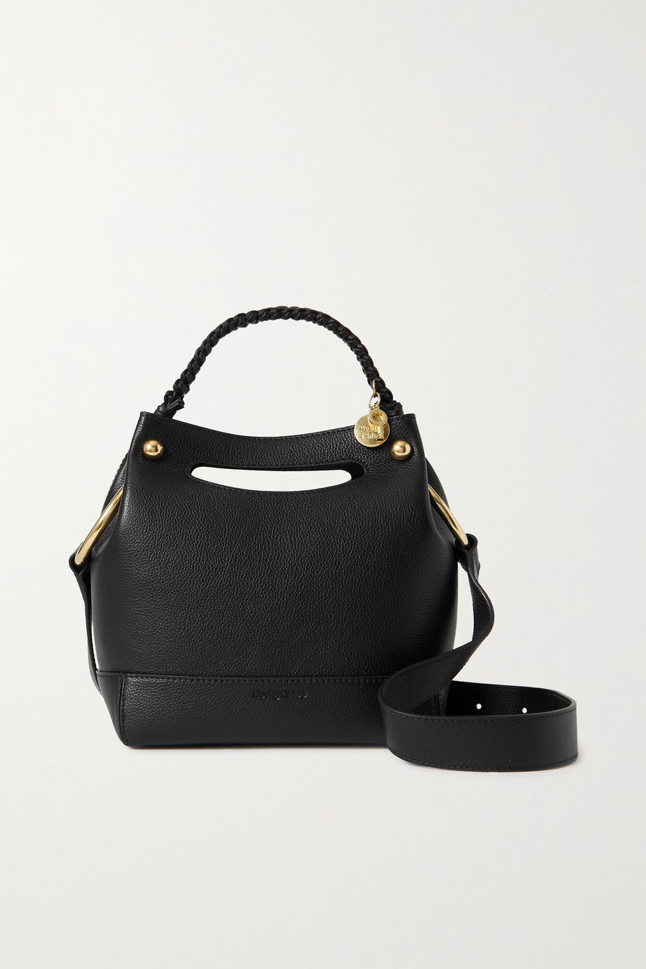See By Chloé Maddy small textured-leather bucket bag
