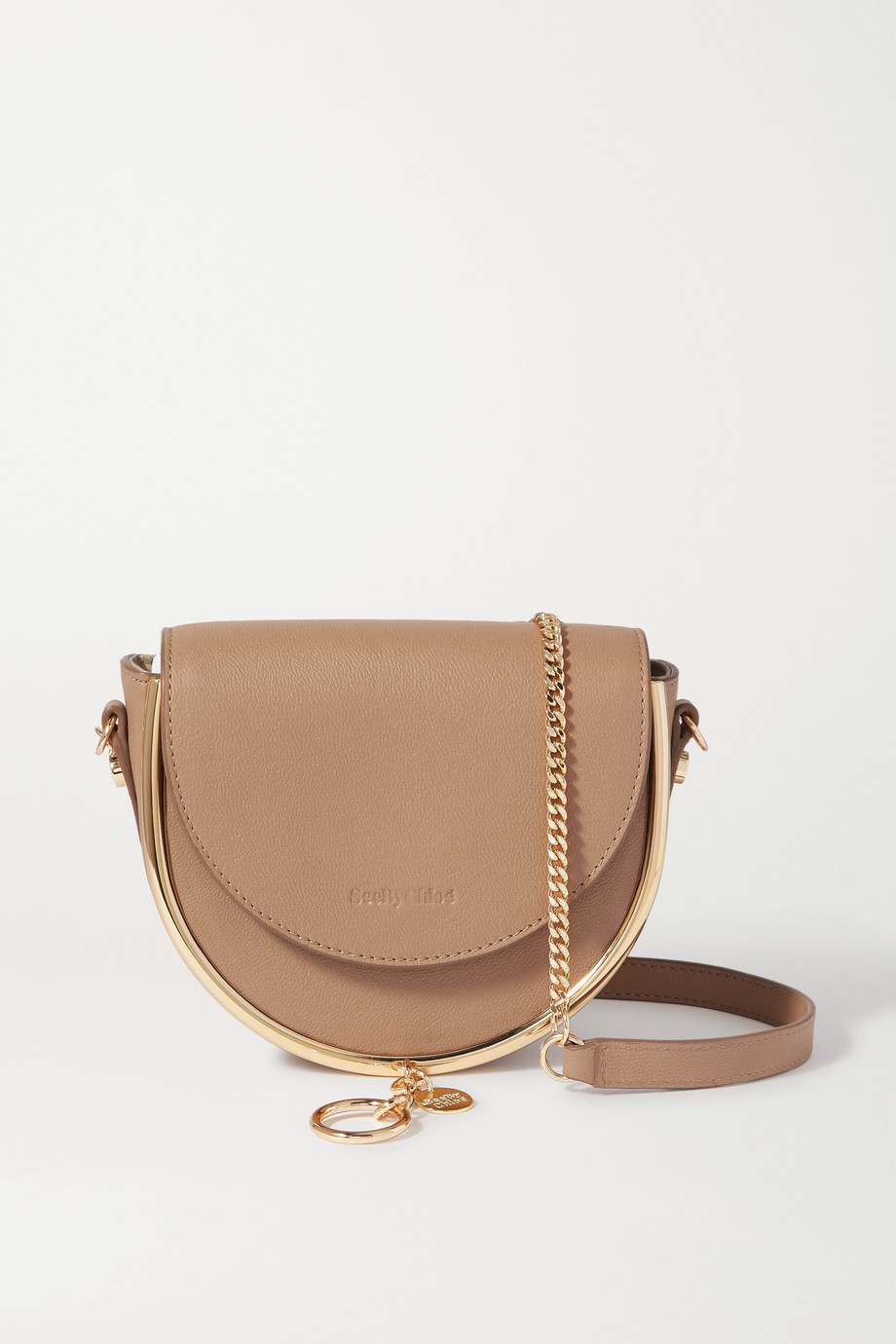 See By Chloé Mara embellished textured-leather shoulder bag