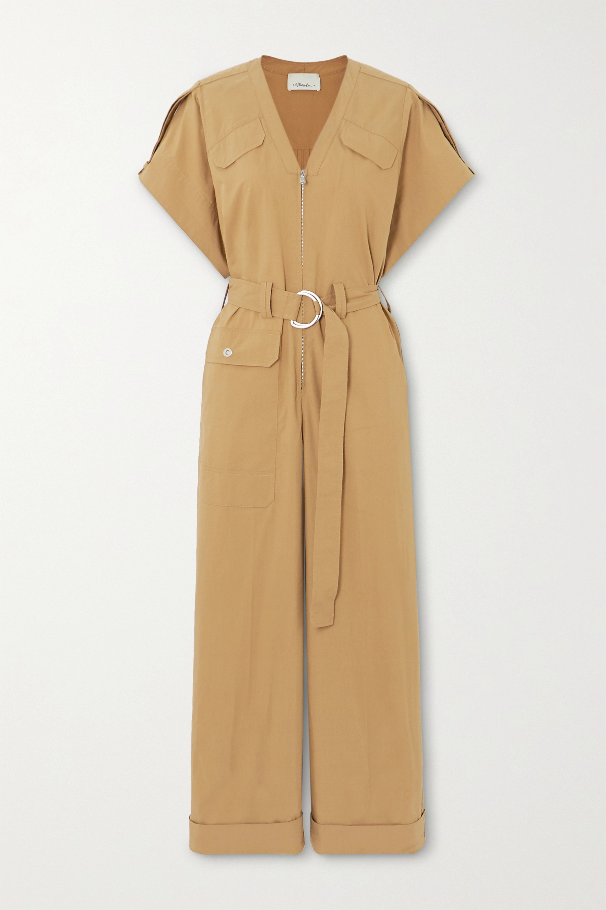 3.1 Phillip Lim + Space for Giants belted organic cotton-blend twill jumpsuit