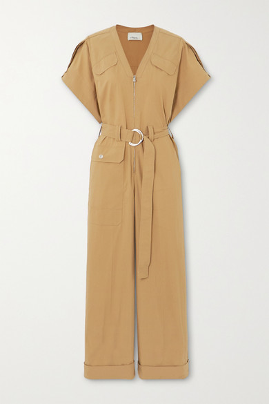 3.1 Phillip Lim - + Space For Giants Belted Organic Cotton-blend Twill Jumpsuit - Camel