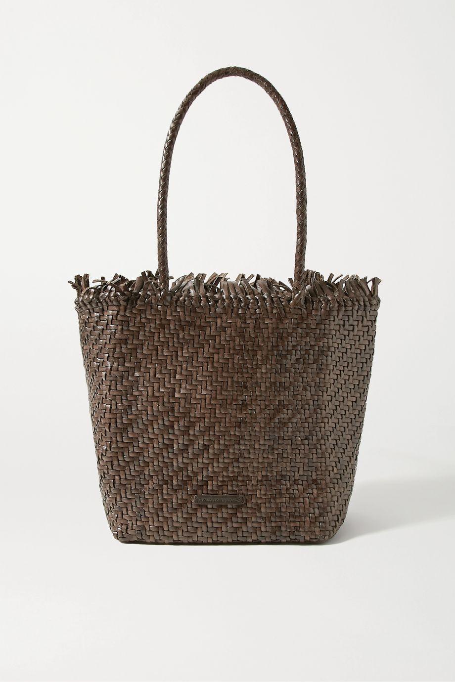 Loeffler Randall Maya fringed woven leather tote