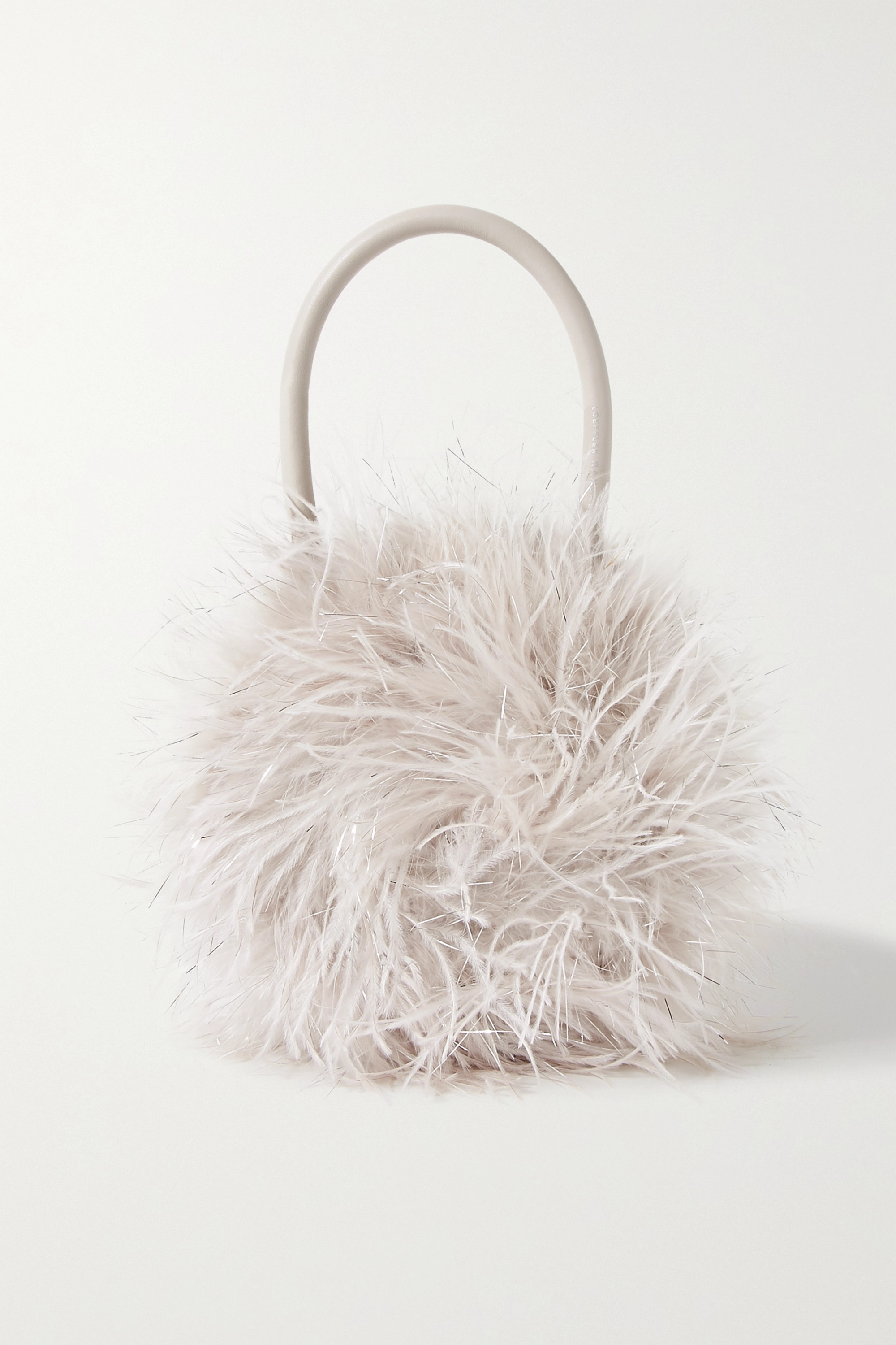 Loeffler Randall Zadie feather-embellished leather tote