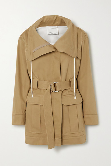 3.1 Phillip Lim - + Space For Giants Belted Organic Cotton-twill Jacket - Taupe