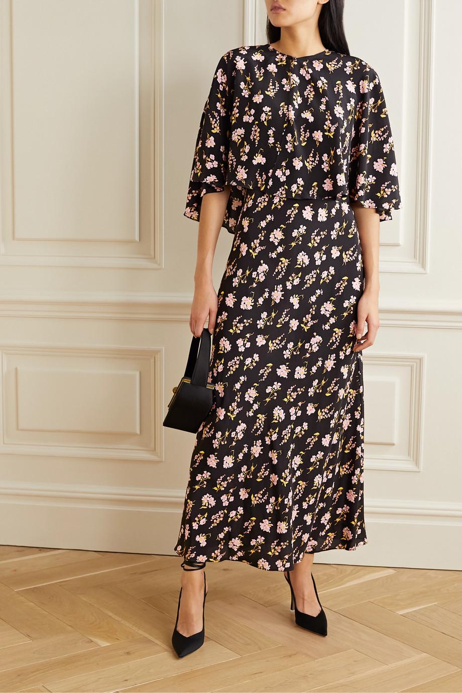 Les Rêveries Convertible floral-print silk maxi dress