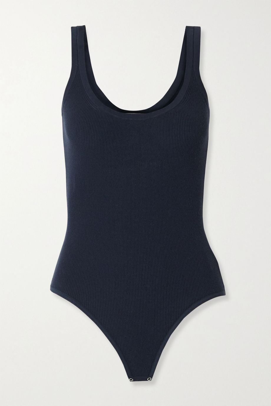 Michael Kors Collection Ribbed-knit thong bodysuit