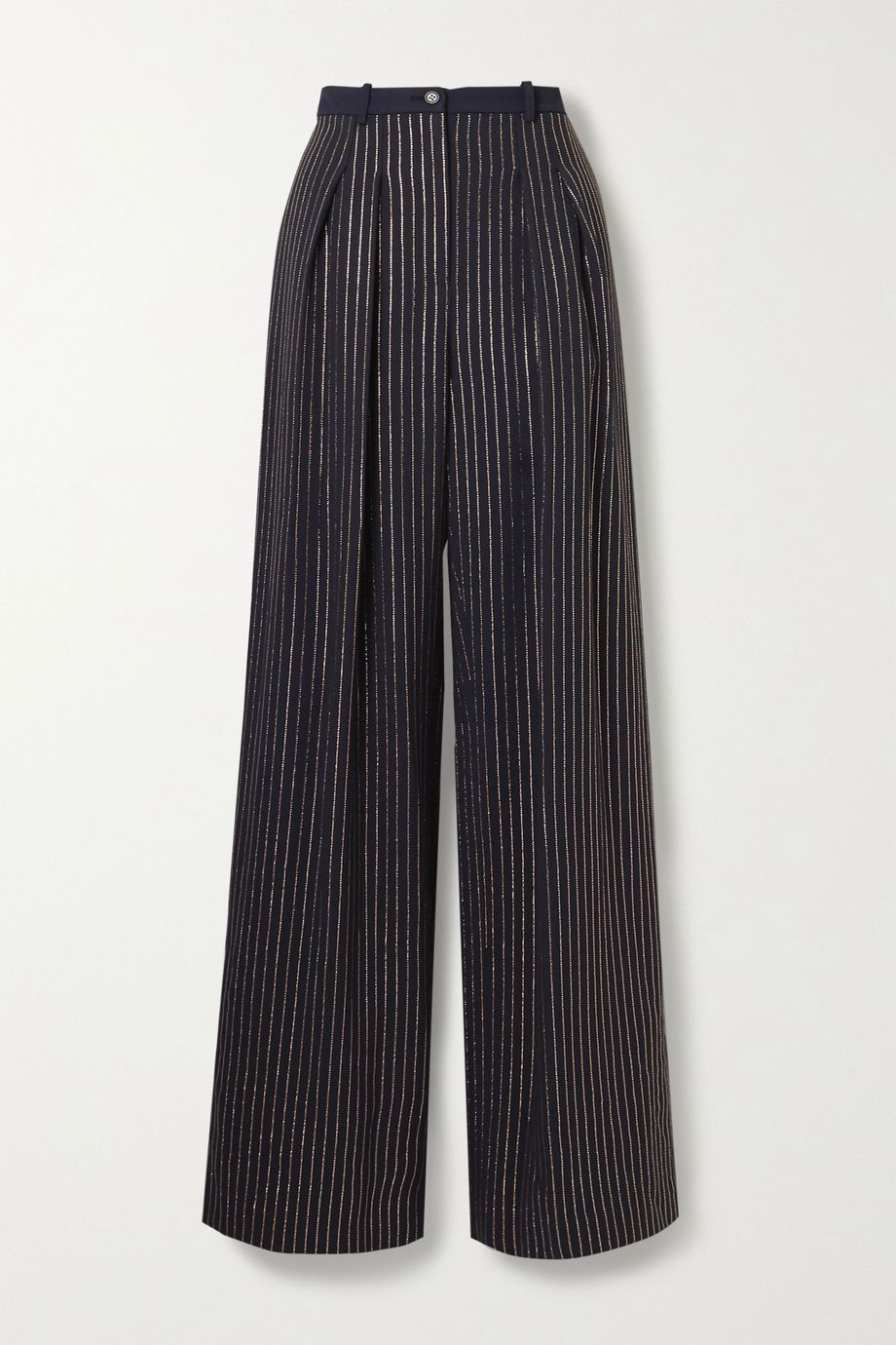 Michael Kors Collection Crystal-embellished crepe wide-leg pants