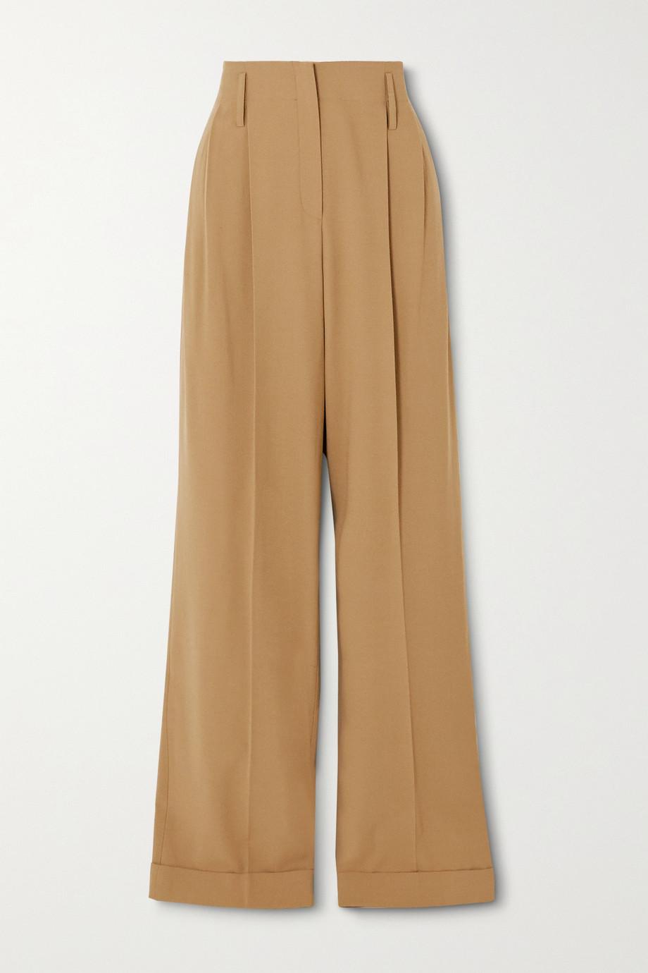 Michael Kors Collection Pleated wool straight-leg pants