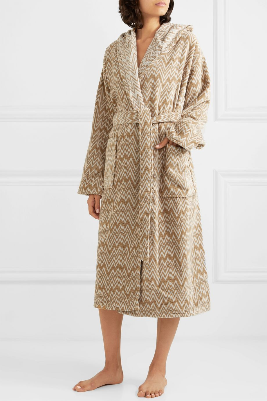 Missoni Home Vanni hooded cotton-terry robe