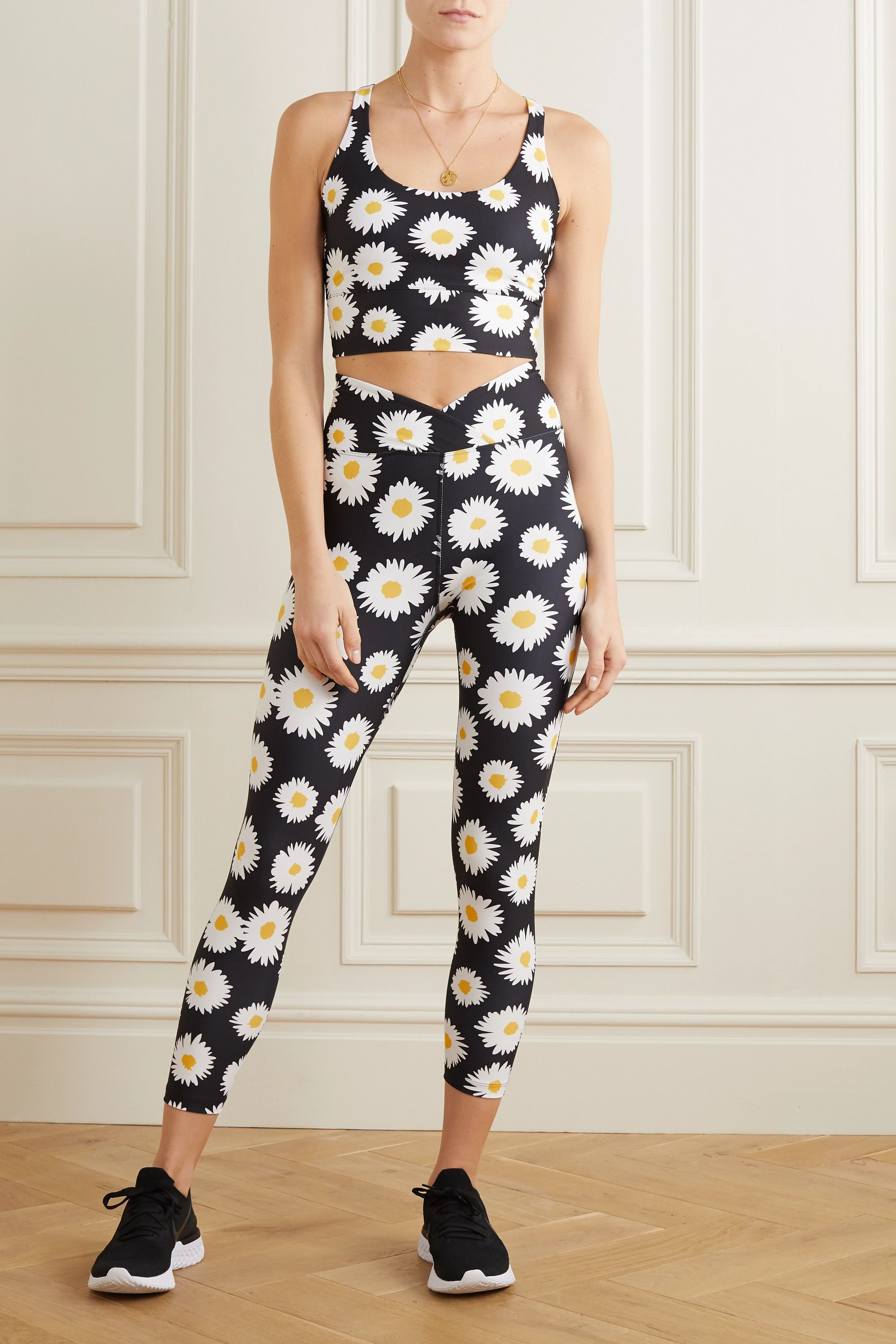 Year of Ours Daisy floral-print stretch sports bra