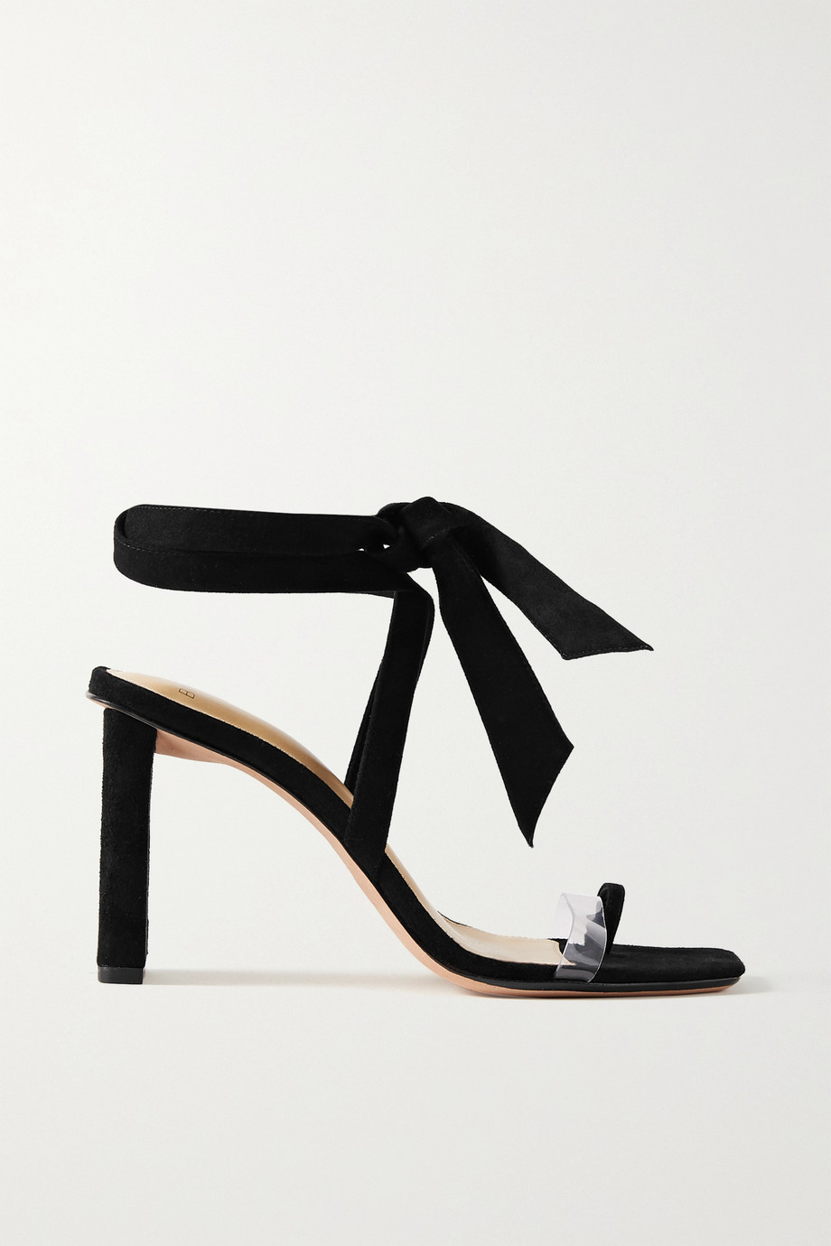 Alexandre Birman Katie bow-embellished suede and PVC sandals
