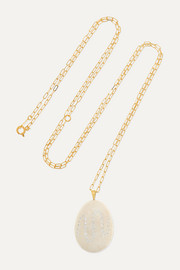 Billowing 18-karat gold, stone and diamond necklace