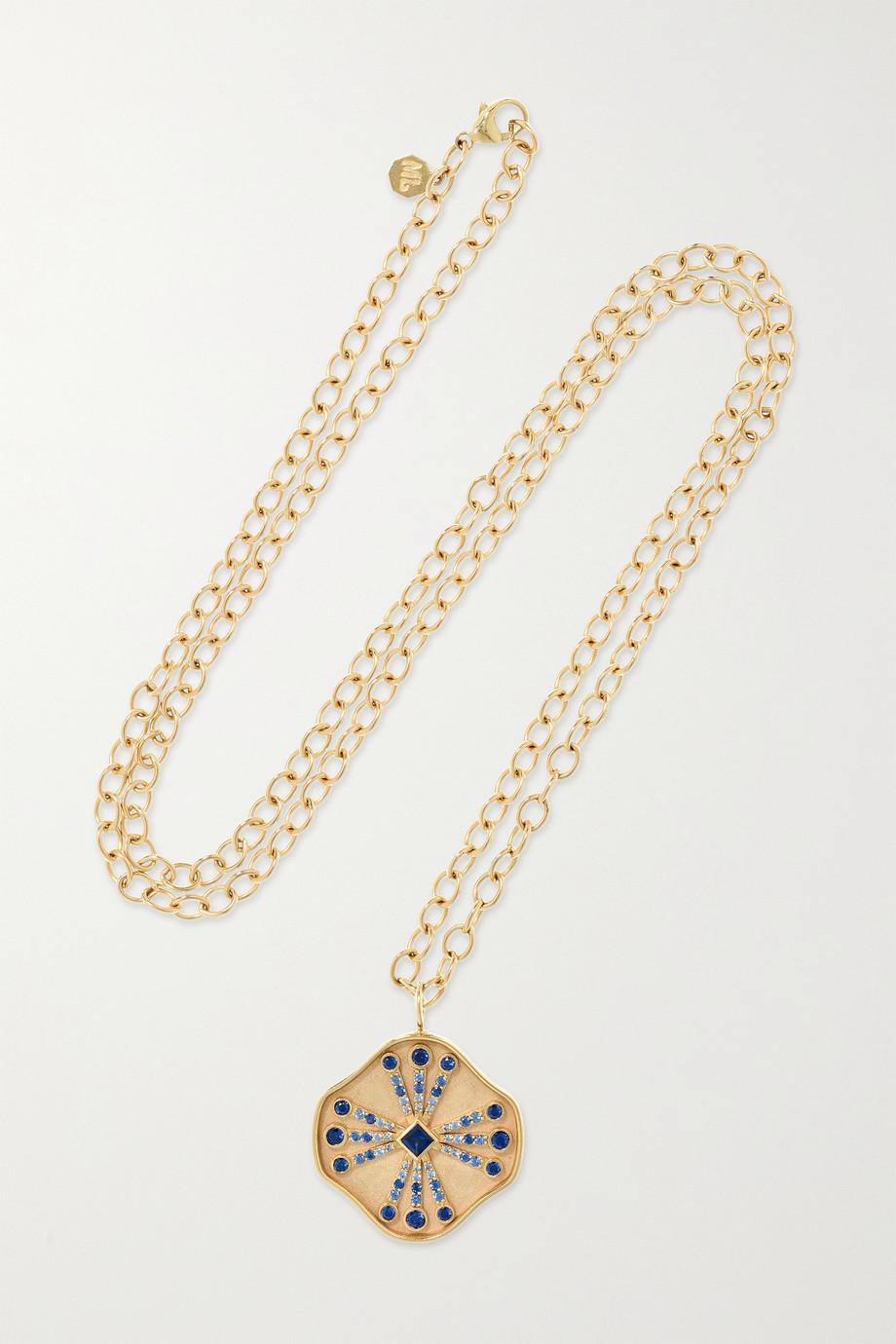 Marlo Laz Guiding Light 14-karat gold sapphire necklace