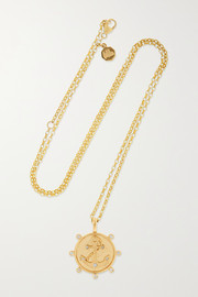 Marlo Laz Anchor 14-karat gold diamond necklace