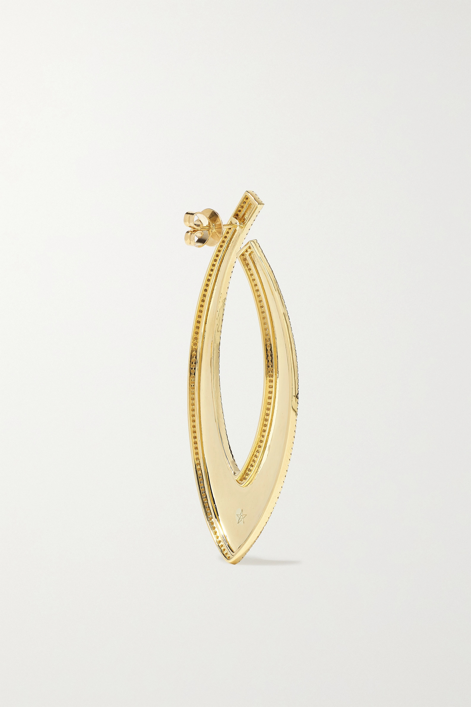 OFIRA Bevel 18-karat gold diamond earrings