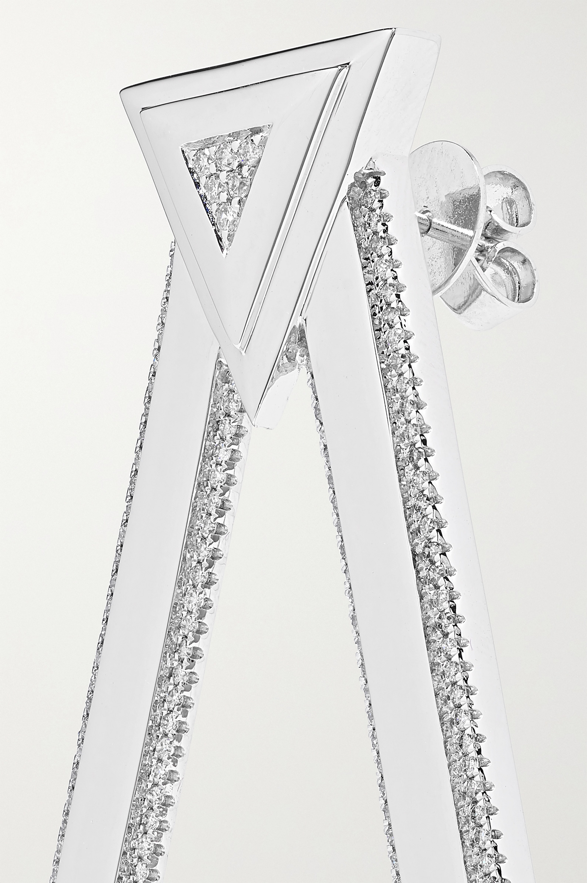 OFIRA Ohrringe aus 18Karat Weißgold mit Diamanten