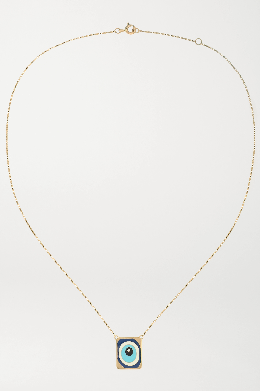 Diane Kordas Collier en or rose 18 carats, émail et diamant