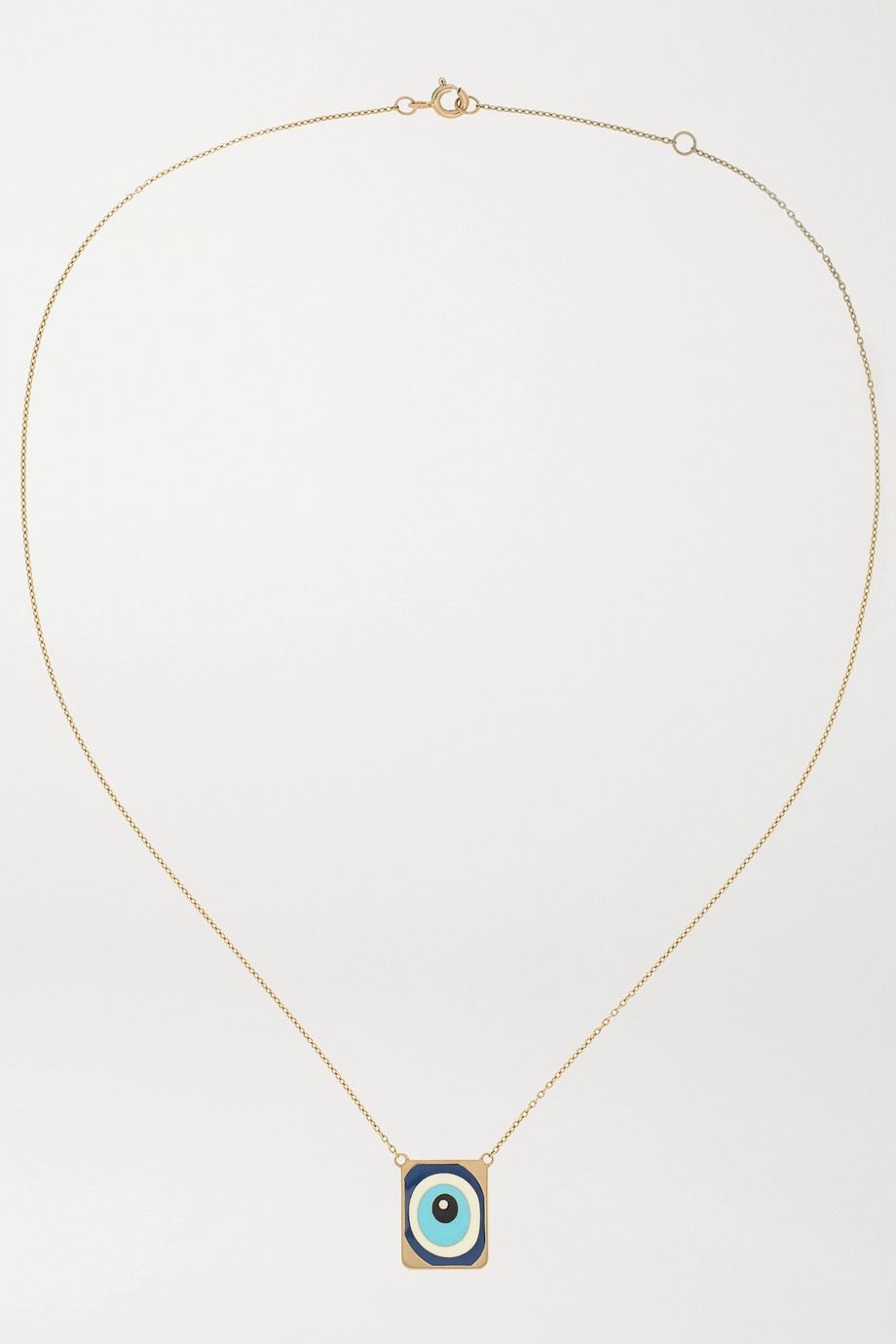 Diane Kordas 18-karat rose gold, enamel and diamond necklace