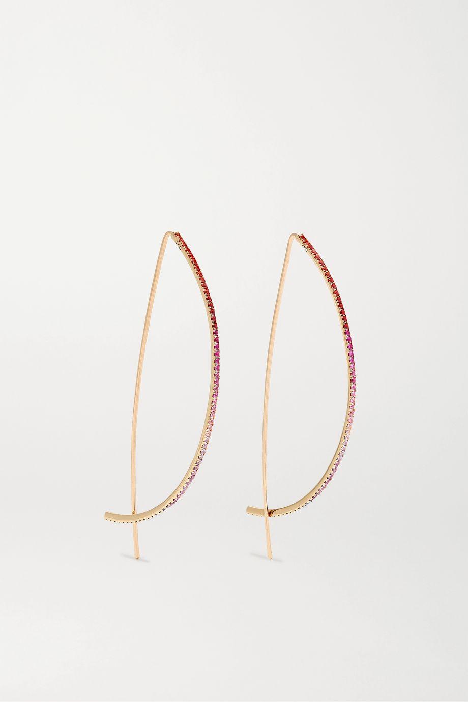 Diane Kordas 18-karat rose gold, sapphire and amethyst earrings