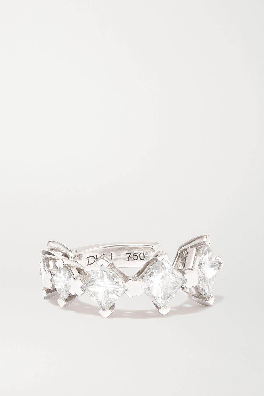 Diane Kordas 18-karat white gold diamond ear cuff
