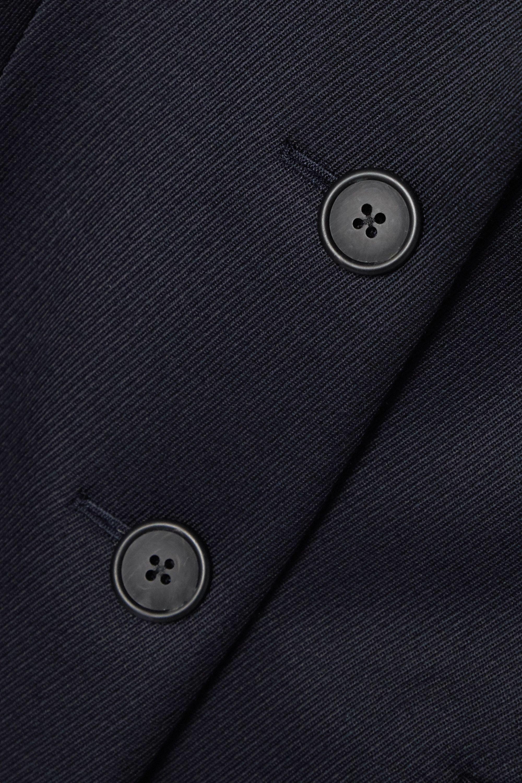 Navy Panois Wool-twill Coat   The Row