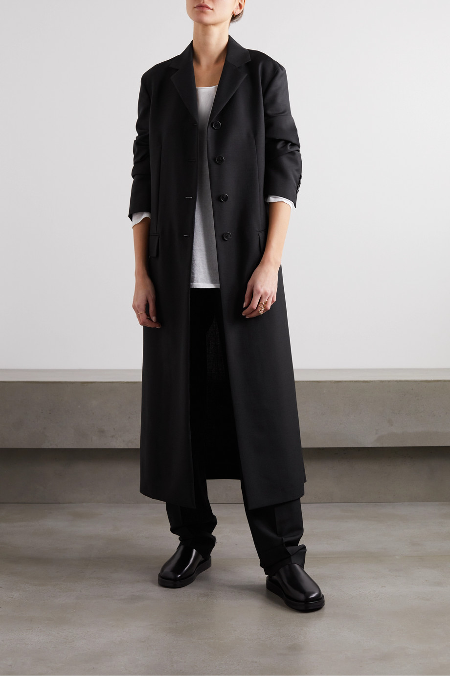 The Row Mintra woven coat
