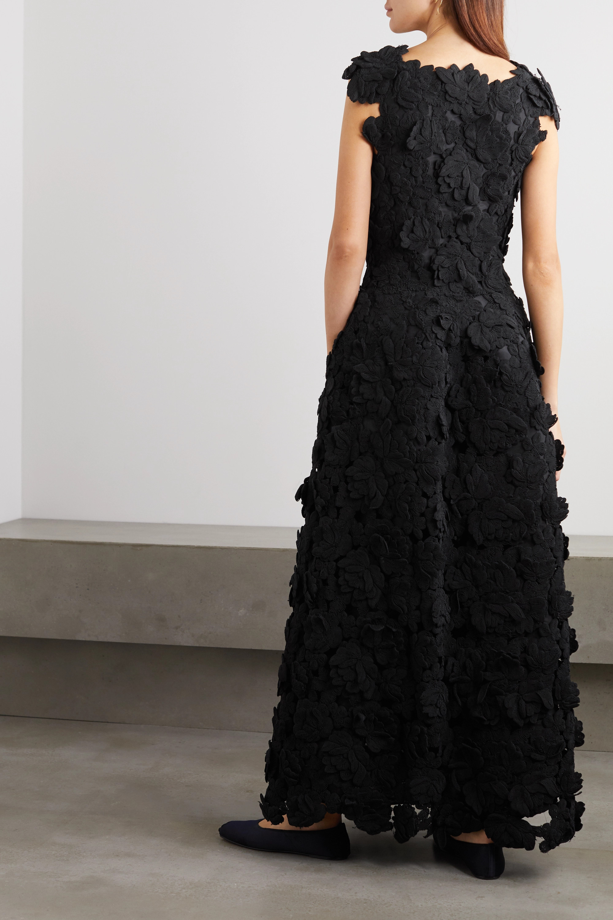 The Row Luciano appliquéd woven gown