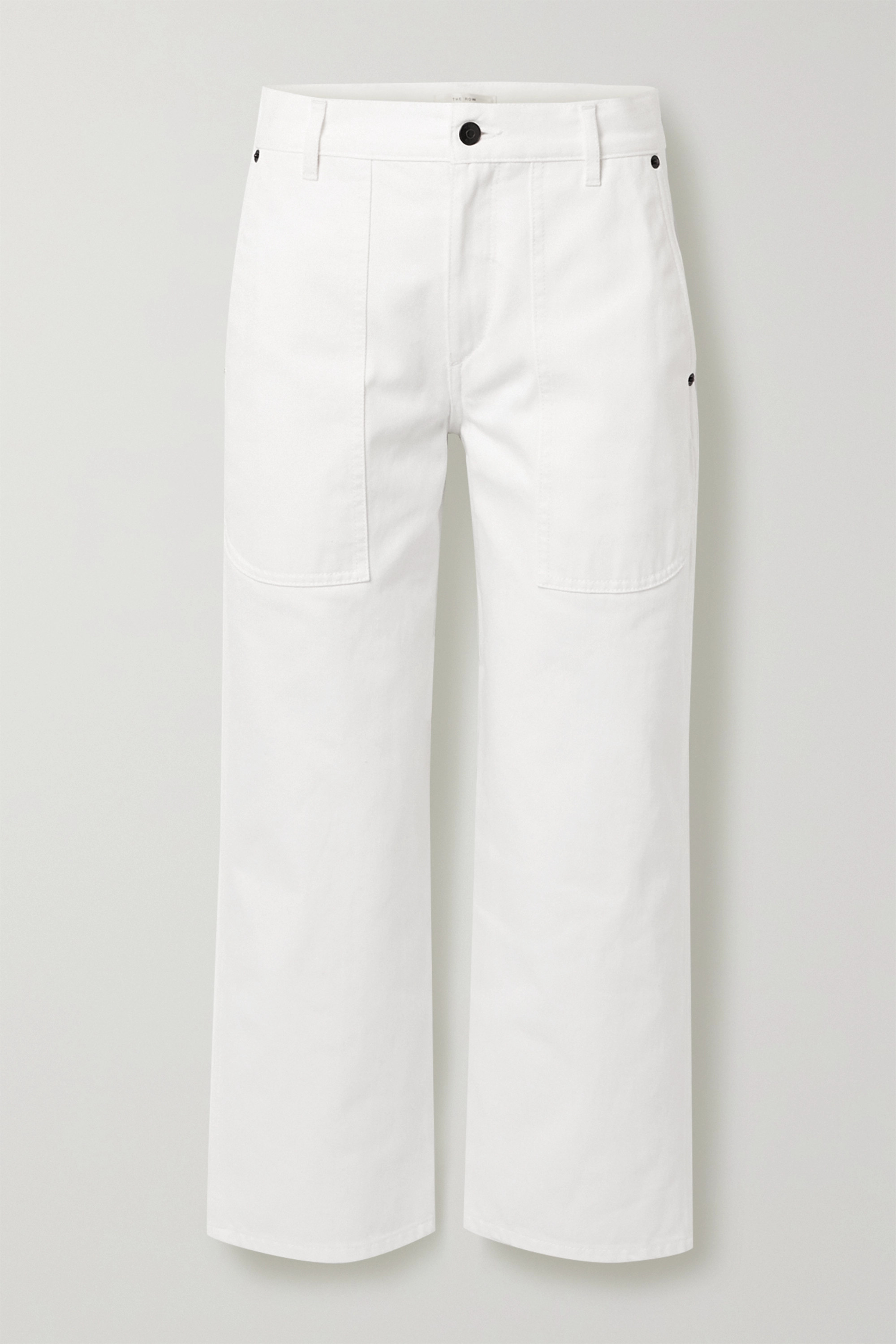 The Row Hester cropped mid-rise straight-leg jeans