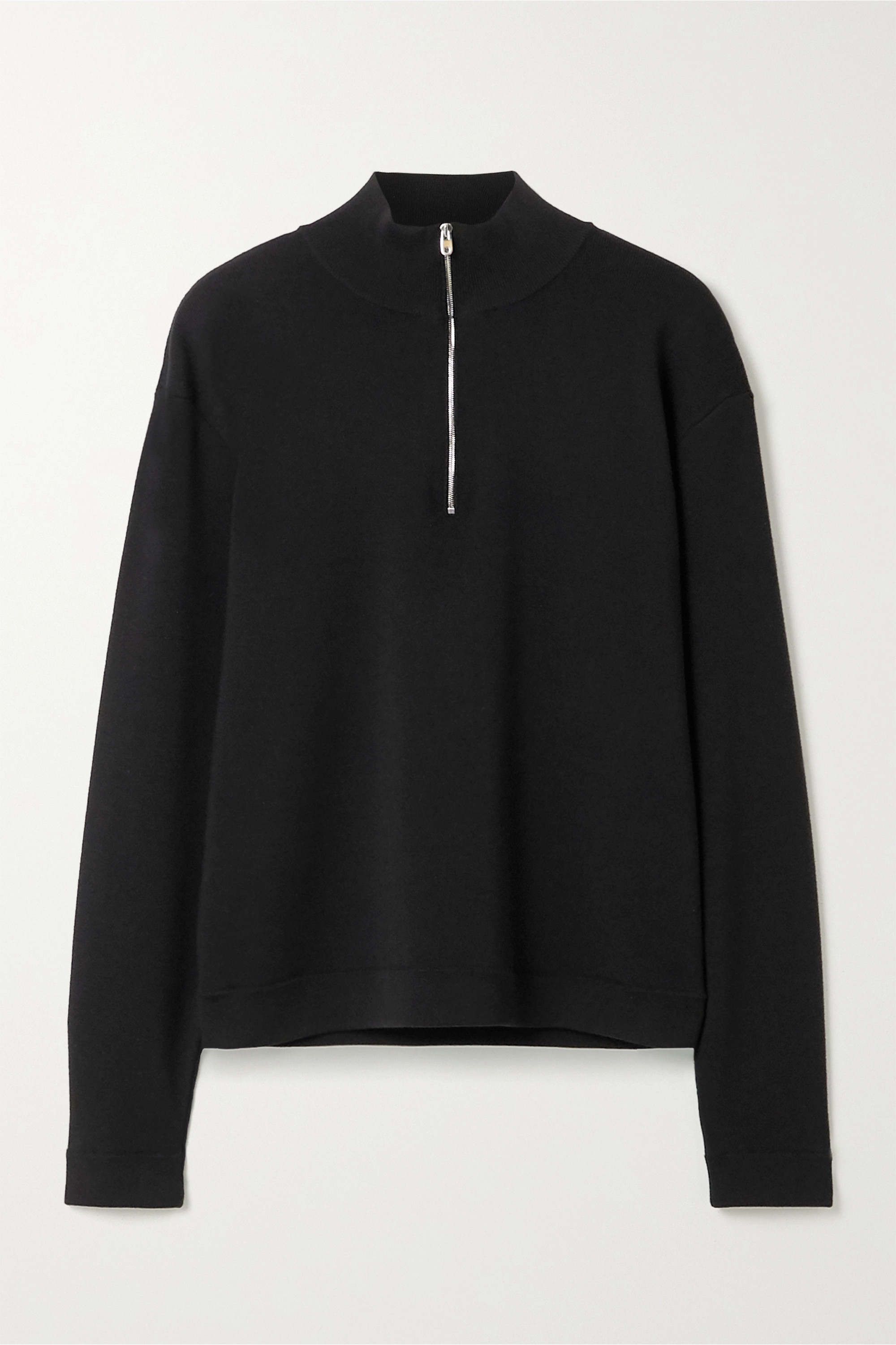The Row Molly ribbed merino wool and cashmere-blend sweater