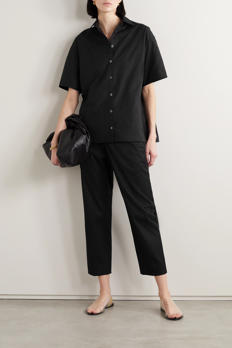 The Row Henry cropped cotton-twill straight-leg pants