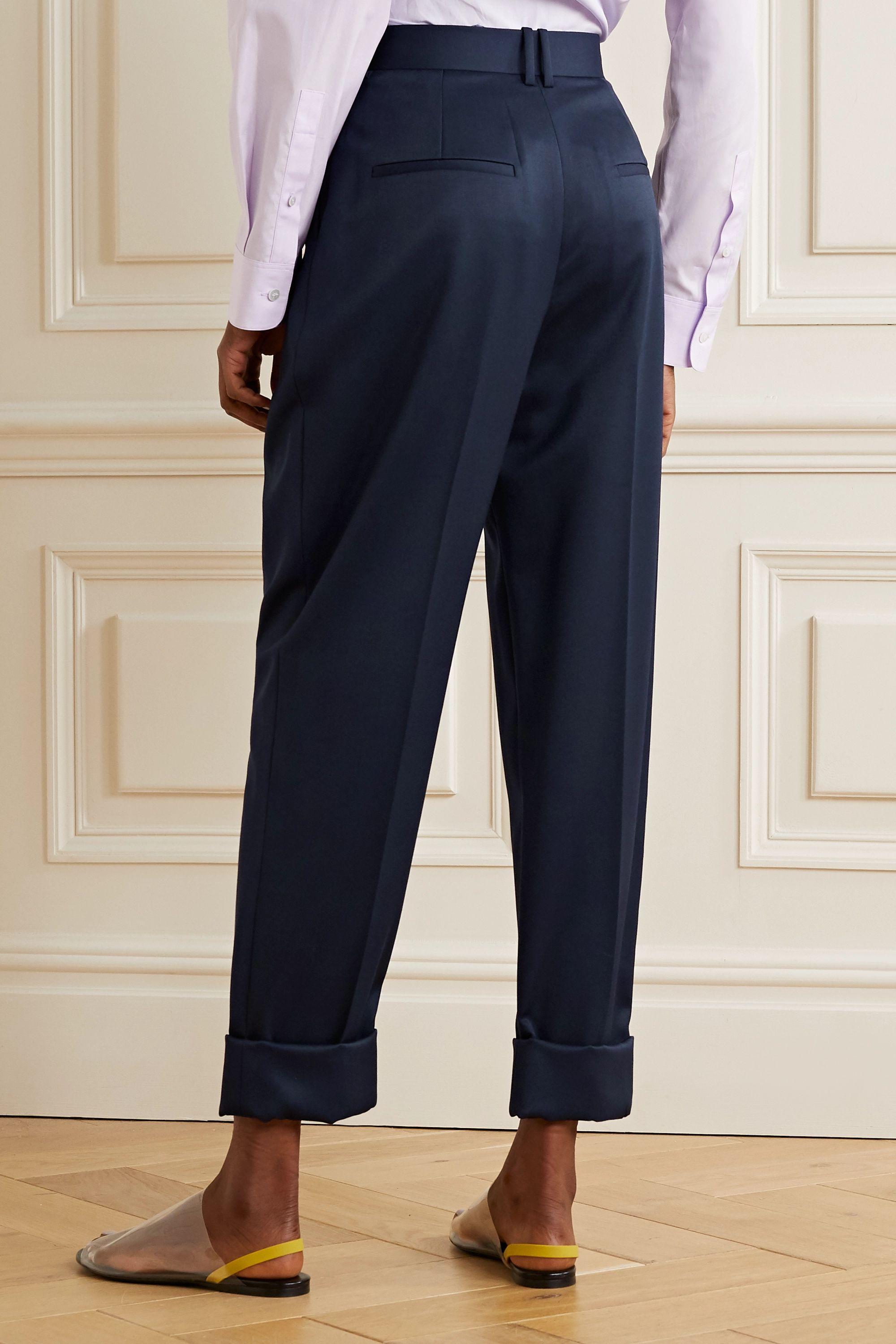 The Row Marta wool-twill tapered pants