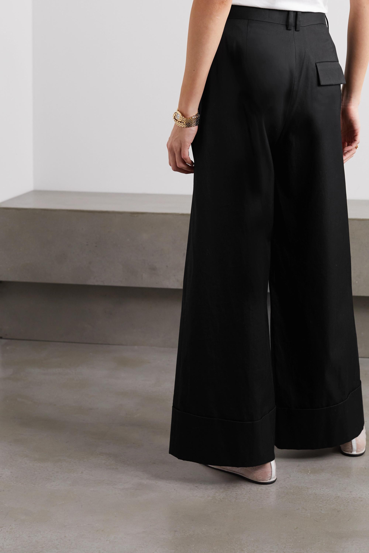 The Row Pantalon large en coton Carter