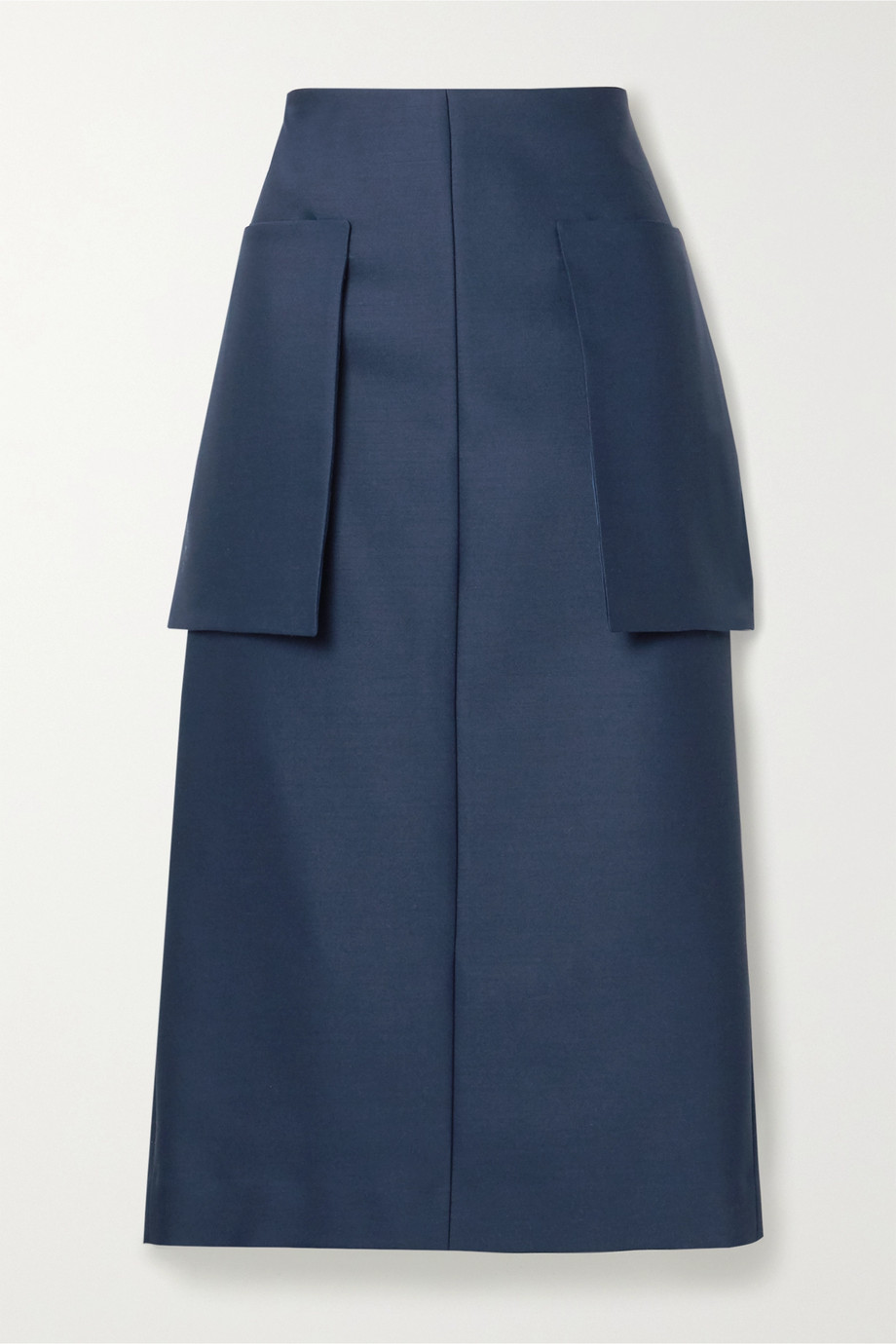 The Row Jenna wool-blend midi skirt