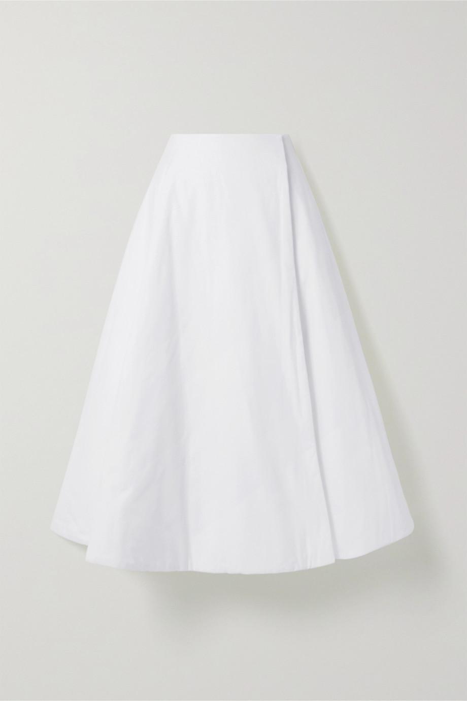 The Row Jaco padded cotton wrap midi skirt