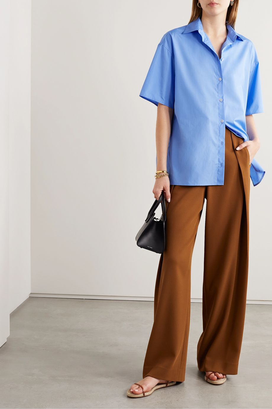 The Row Sissa oversized cotton-poplin shirt