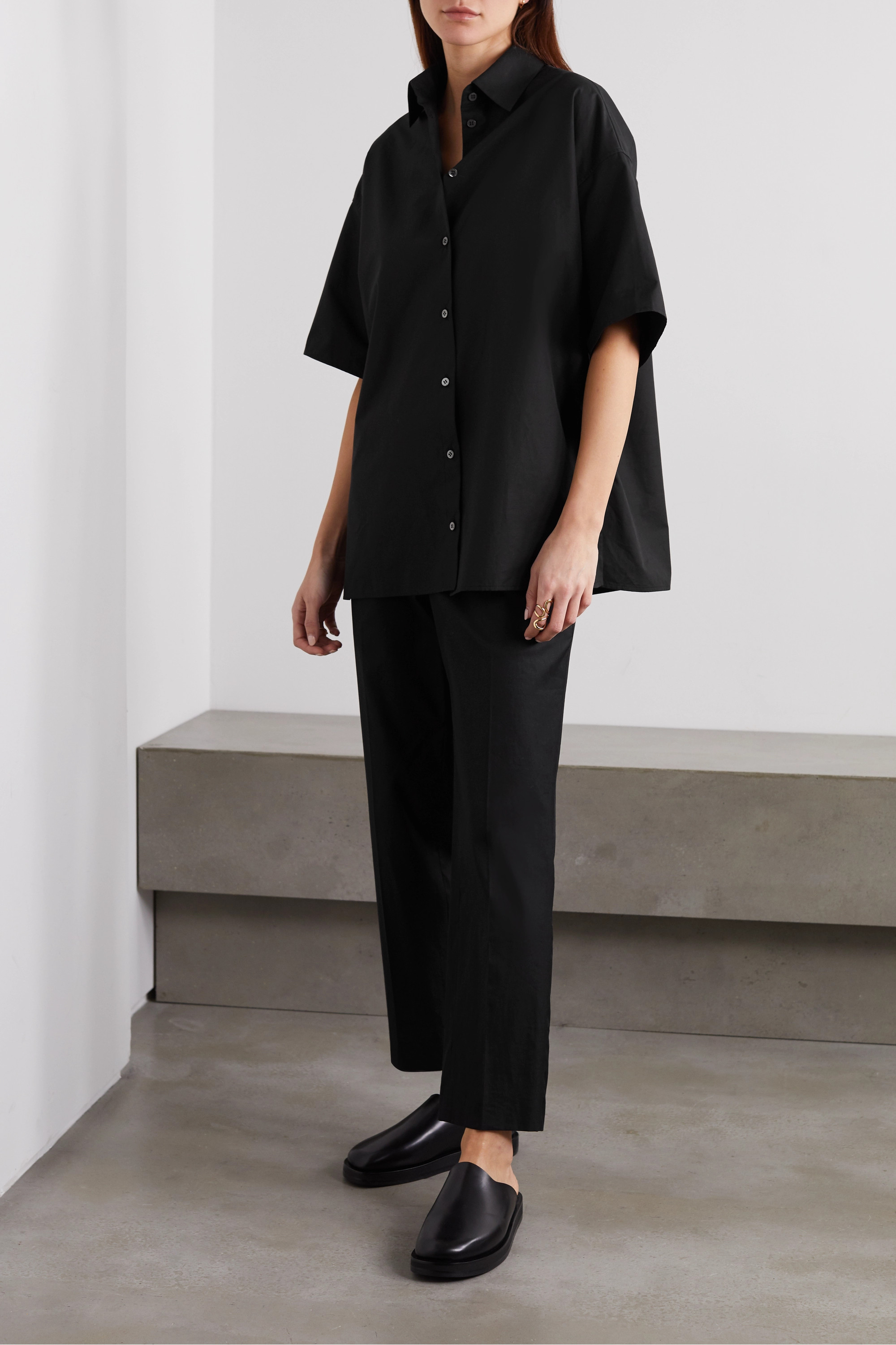The Row Sissa cotton-poplin shirt