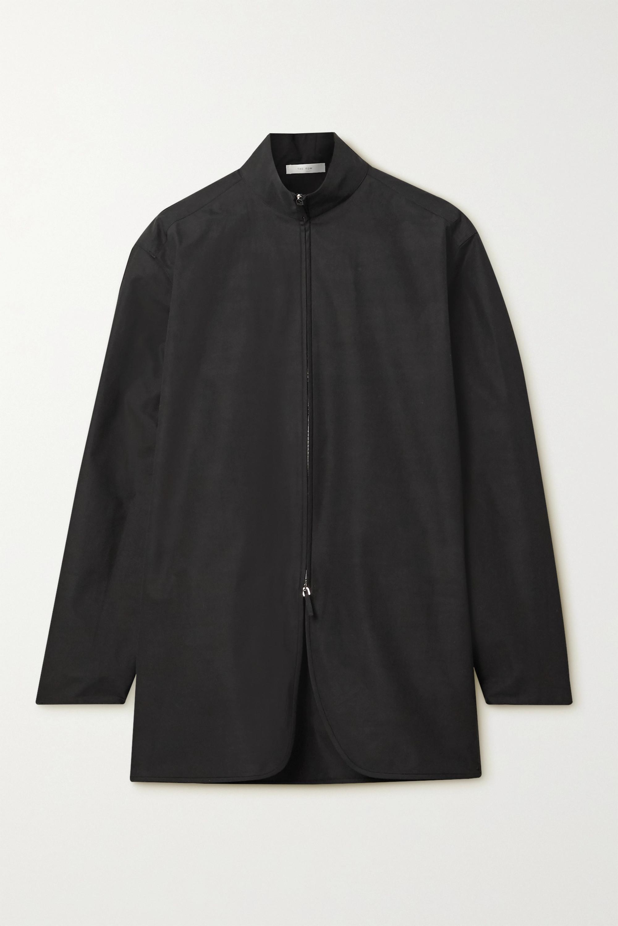 The Row Zana cotton-poplin shirt
