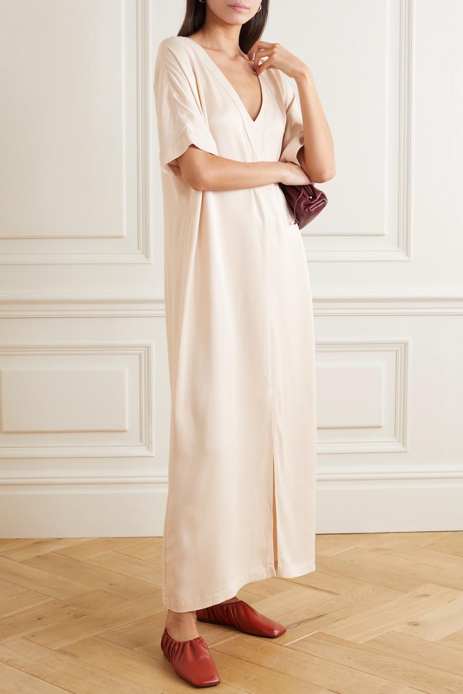 Envelope1976 + NET SUSTAIN Tokyo crepe de chine maxi dress