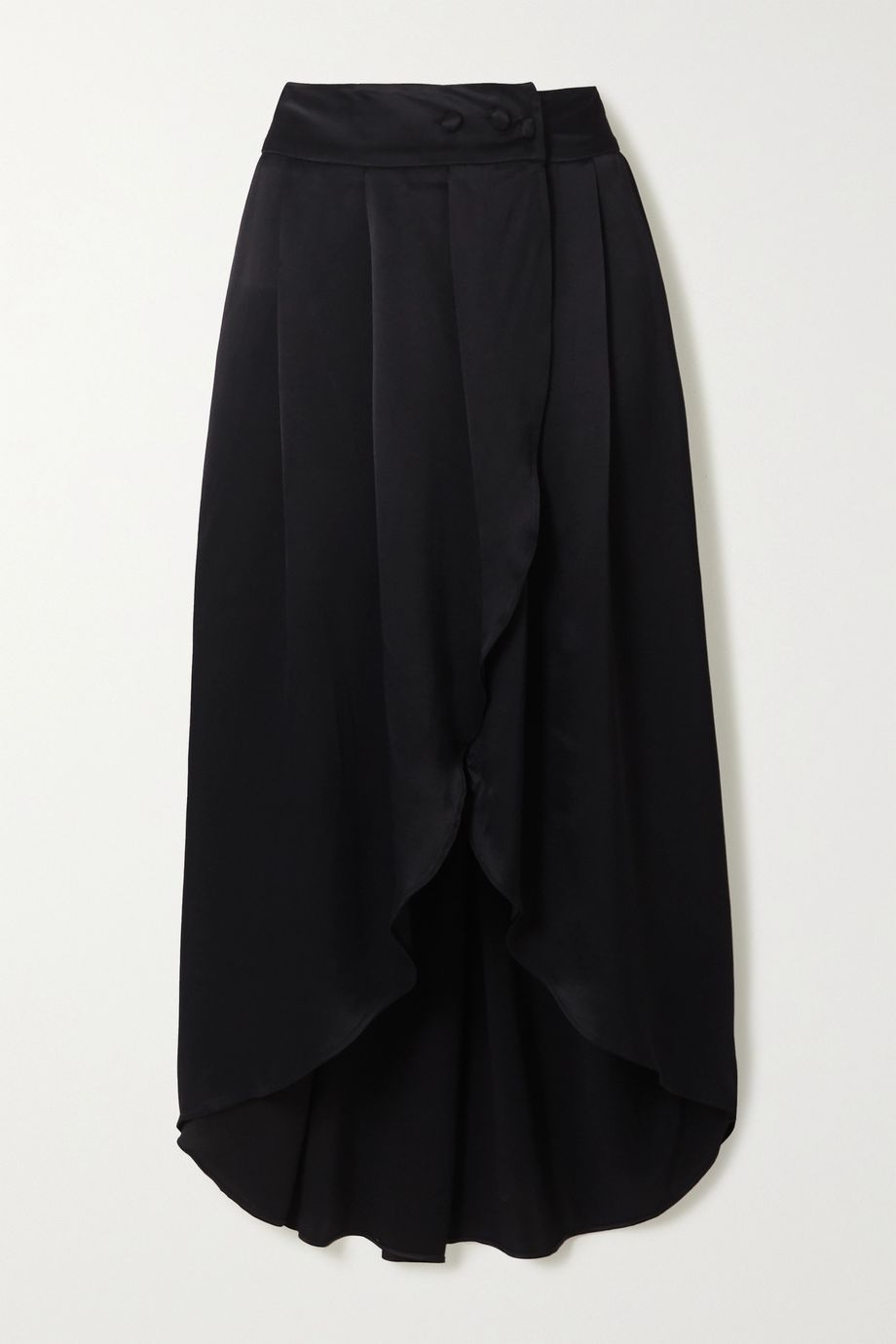 Envelope1976 + NET SUSTAIN Seminyak asymmetric satin skirt
