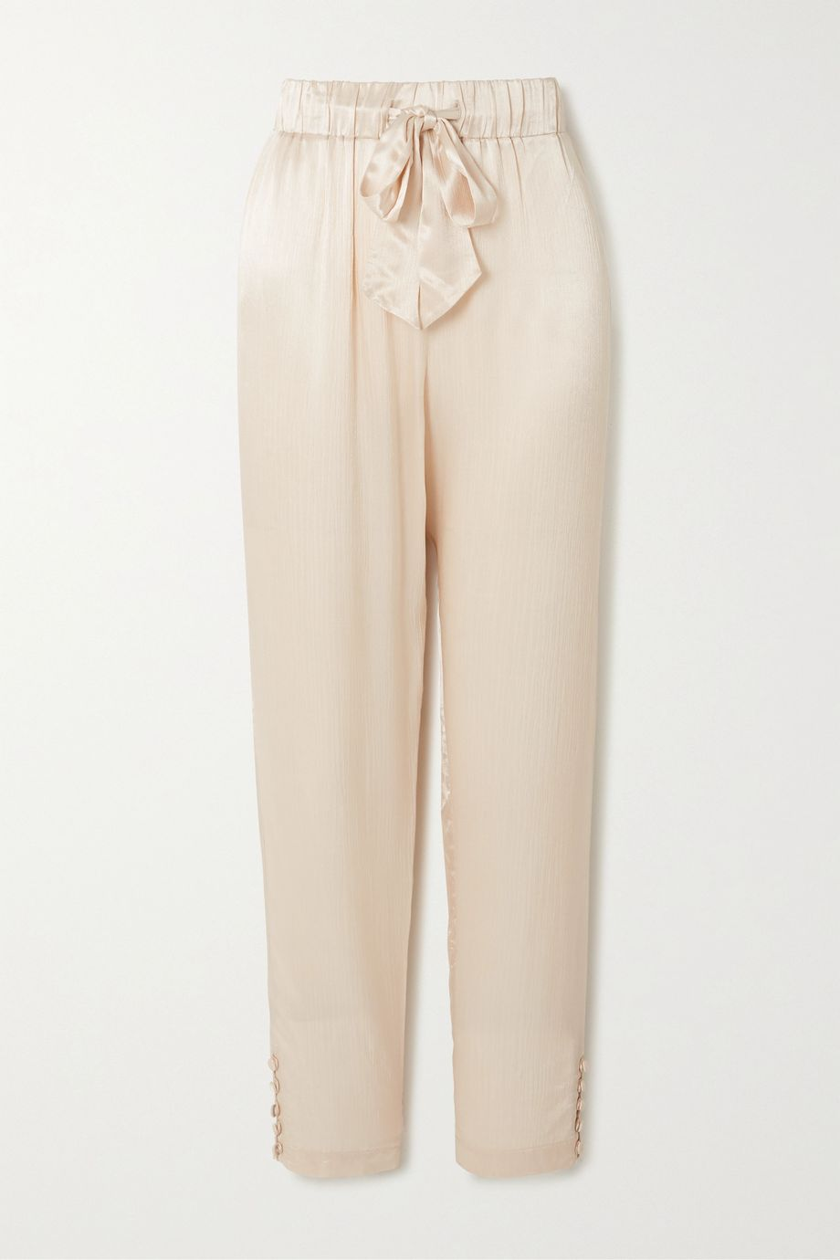 Envelope1976 + NET SUSTAIN Goe textured-satin tapered pants