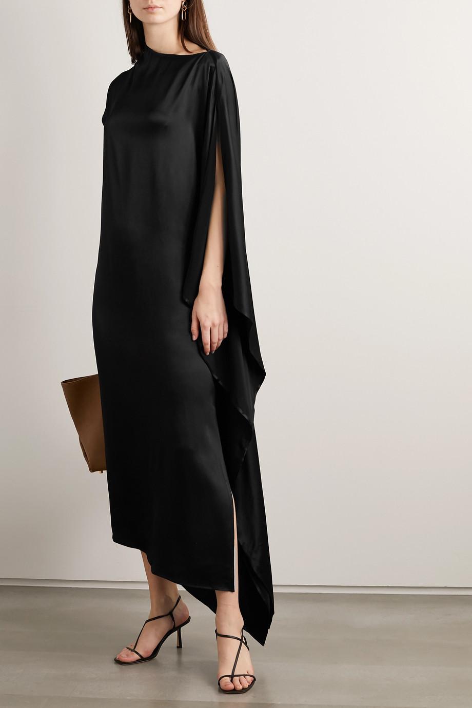 Envelope1976 + NET SUSTAIN Dali asymmetric satin maxi dress