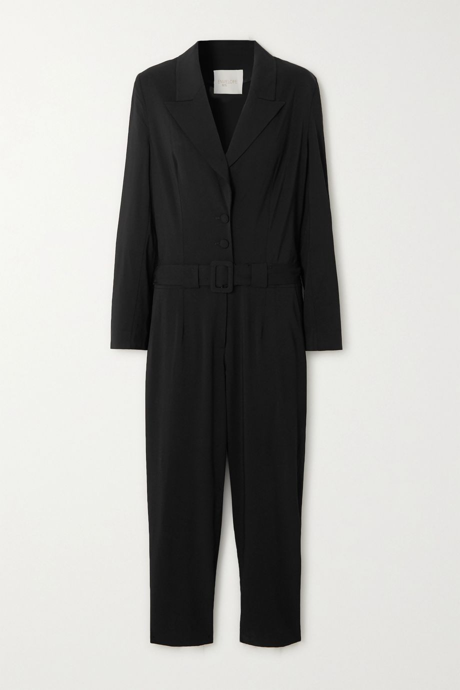 Envelope1976 + NET SUSTAIN Bodega belted wool jumpsuit